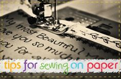 Tips when using a sewing machine on paper