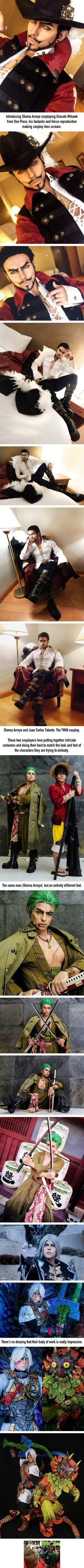 Is this the best Dracule Mihawk cosplay so far. Introducing TWIN Cosplay, Shema Arroyo and Juan Carlos from Mexico