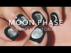 Stunning manicure featuring all the phases of the moon. The tutorial is mesmerizing, just like the results!
