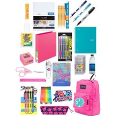 Preppy school supplies by perfectlypreppy15 on Polyvore featuring polyvore, fashion, style, JanSport, Moon and Lola, Burt's Bees, Vera Bradley, Lilly Pulitzer and Tervis