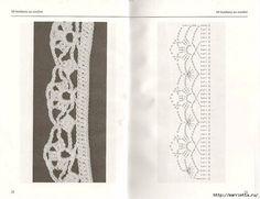 Delicadezas en crochet Gabriela: 10 Modelos de bordes decorativos con esquemas y muestras del punto