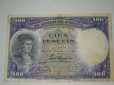 billete de 100 pesetas banco de españa sin serie 1931 mbc