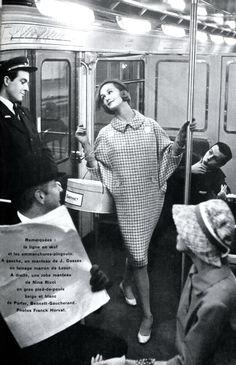 Jardin des Modes March 1958. Photos by Marc Hispard