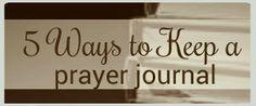 5 Ways to Keep a Prayer Journal - Women's Bible Studies by Book of the Bible - RachelWojo.com