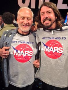 Astronaut Buzz Aldrin (walked on the moon) and Dave Grohl