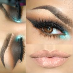 Add a pop of color to your smokey eye just like AuroraMakeup.