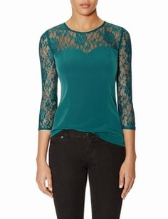 Lace Sweetheart Blouse