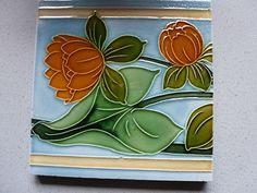 floral art nouveau tile