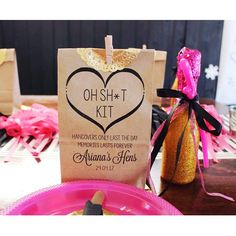 Oh Shit Kit Personalised Bags - Hens Night Bachelorette Party