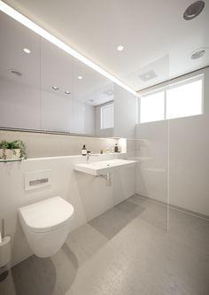 Modern kitchen and bathroom design solutions.award winning design studio for the kitchen & bathroom. hand made bathroom furniture Bathroom Niche, Attic Bathroom, Laundry In Bathroom, Modern Bathroom, Small Bathroom, Restroom Design, Bathroom Interior Design, Minimalist Toilets, Bathroom Showrooms