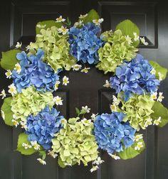 Hydrangea Wreaths   Spring Wreath Hydrangea Wreath Summer