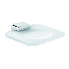 KLUDI E2 zeephouder 4998705. Zeepschaal van wit gematteerd opaal glas 140x140mm.