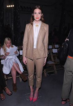 Mandy Moore in Band of Outsiders at the #NTFW S/13 Band of Outsiders Front Row.