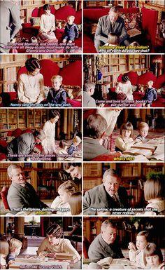 Granny Cora and Donk with the grandchildren   Downton Abbey Season 6
