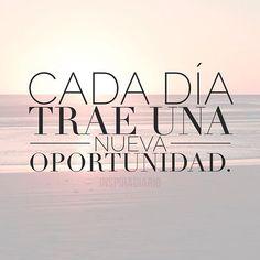 Cada día trae una nueva oportunidad. Plan de vida feliz.