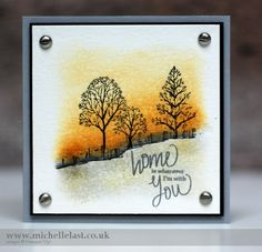 The latest Global Design Project colour challenge using Lovely as a Tree from Stampin up made by UK& demo Michelle Last. Get a free gift during SAB Fall Cards, Holiday Cards, Christmas Cards, Penny Black Karten, Tree Sketches, Making Greeting Cards, Stamping Up Cards, Thanksgiving Cards, Tampons