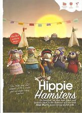 Happy Hippie Hamsters by Alan Dart in the August issue of Simply Knitting Magazine Simply Knitting, Simply Crochet, Easy Knitting, Knitting Patterns, Knitting Ideas, Crochet Patterns, Graphic 45, Knitted Dolls, Crochet Dolls