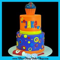Bubbles 1st Birthday Cake