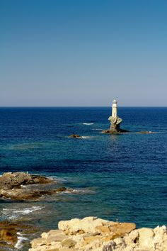Old Lighthouse in Andros by Paris Polyzos Mount Olympus, Beacon Of Light, Greek Islands, Lighthouses, Greece, Spirit, Marvel, Magic, Water