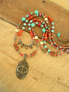 Turquoise Necklace, Southwest Jewelry, Cowgirl Jewelry, Tribal Jewelry, Cowgirl Jewelry