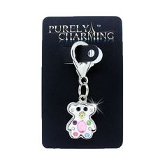 PURELY CHARMING Pet Charm / Pendant with Handset Swarovski Crystals - Multi-Color Puffed Bear *** Check this awesome image  : Cat accessories