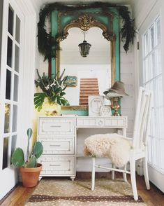 You can add your own style to a tiny nook for a small home office space that inspires you. Love the combo of the simple desk and chair and the ornate accessories! Yellow Couch, Second Hand Furniture, Simple Desk, Office Chair Without Wheels, Style Matters, Eclectic Decor, Eclectic Style, Home Office Furniture, Office Decor