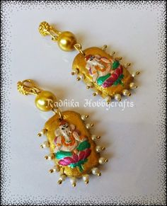 Hobby Crafts Shilpkar M Seal Lord Ganesh Earrings