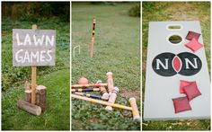 Lawn games at a wedding - croquet and cornhole! Emily Steffen Photography.