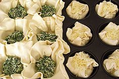 Blätterteig - Spinat - Muffins
