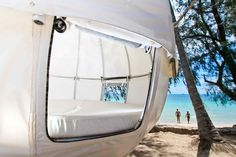 It turns out that hanging tree tents are becoming increasingly popular, and the Cocoon Tree Tent is the latest design craze for camping. The Cocoon Tree T Tent Camping, Glamping, Camping Hacks, Sleeping Pods, Tree Tent, Backyard Trampoline, Hammock Tent, Cocoon, Luxury Tents