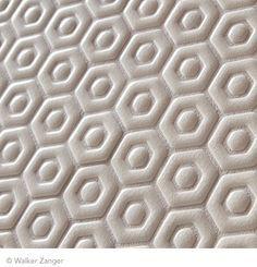 Walker Zanger David Hexagon Mosaic in White Crackle