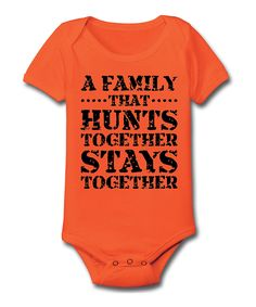 Orange 'Hunts Together' Bodysuit - Infant | something special every day