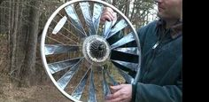 A backyard tinkerer shows us how to build wind turbine blades out of duct tape.