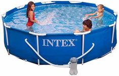 Intex Metal Frame Pool Set, x are in the right place about natural skin care Here we offer you the most beautiful pictures about the skin care you are looking for. When you examine the Intex Metal Frame Pool Set, x Kids Backyard Playground, Backyard For Kids, Backyard Ideas, Garden Ideas, Best Above Ground Pool, In Ground Pools, Piscina Intex, Metal Pool, Jersey Jacquard
