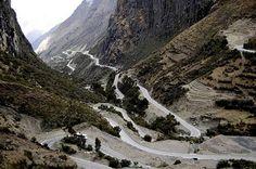 autoroute naar Macchu Pichu Peru