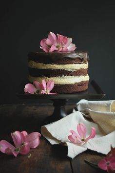 Chocolate Hazelnut Praline Cake