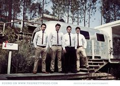 Thin ties for groom and best men