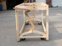 Table with Retractable Casters. Build any table you want to move often but be stable when in place.