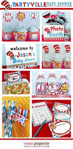 Party Ville Baby Shower Package Personalized FULL by venspaperie