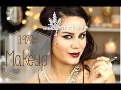 Gatsby 1920's Makeup Look ♡ MakeupByGio - YouTube