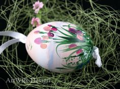 ArtWilk pisanka hand painted on duck egg.