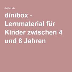 dinibox - Lernmaterial für Kinder zwischen 4 und 8 Jahren