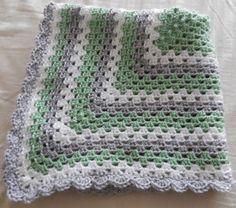 Crochet granny square baby blanket - $45