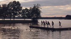 Located five minutes from campus on Lake Norman, Davidson's 106-acre Lake Campus is a popular spot for students to swim, play beach volleyball, fire up the grill, or lounge with friends on the peninsula.