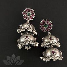 Silver Earrings Clip On Indian Jewelry Earrings, Silver Jewellery Indian, Gold Rings Jewelry, Silver Earrings, Temple Jewellery, Women's Earrings, Jewelery, Trendy Jewelry, Boho Jewelry