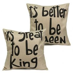 It's great to be King, It's better to be queen  Great hostess or bridal shower gift