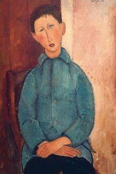 Modigliani / Boy in Blue Jacket / 1918