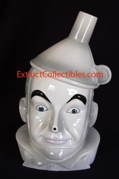 Wizard of Oz Tin Man ceramic cookie jar.