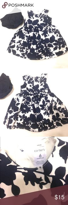 🦋Carter's Formal 2 Piece Dress Beautiful navy blue and white floral toddler dress in excellent used condition. Carter's Dresses Formal