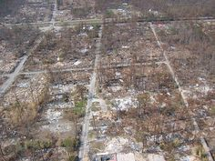 Total devastation following Hurricane Katrina. Waveland, Mississippi.  September 13th 2005